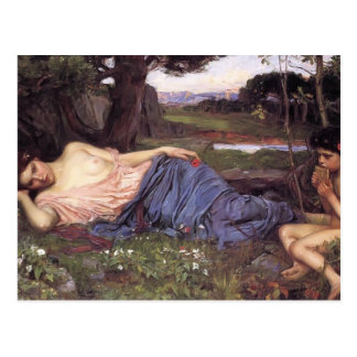 John William Waterhouse-Listen to my Sweet Pipings Postcard