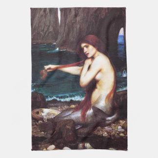 John William Waterhouse Mermaid Kitchen Towel