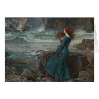 John William Waterhouse - Miranda - The Tempest Card