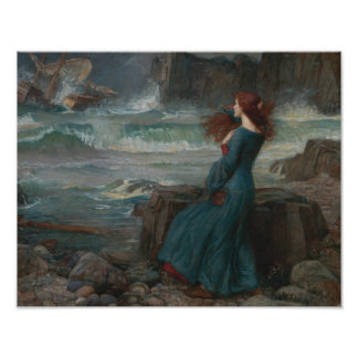 John William Waterhouse - Miranda - The Tempest Poster