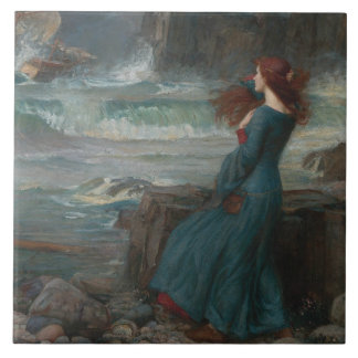 John William Waterhouse - Miranda - The Tempest Tile