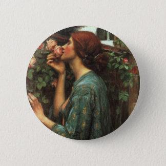 John William Waterhouse, My Sweet Rose (1903) 6 Cm Round Badge