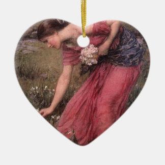John William Waterhouse - Narcissus - Fine Art Ceramic Ornament