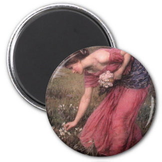 John William Waterhouse - Narcissus - Fine Art Magnet