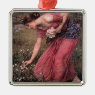 John William Waterhouse - Narcissus - Fine Art Metal Ornament