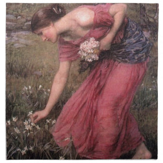 John William Waterhouse - Narcissus - Fine Art Napkin