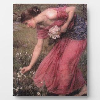 John William Waterhouse - Narcissus - Fine Art Plaque