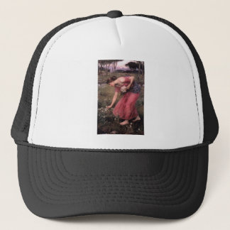 John William Waterhouse - Narcissus - Fine Art Trucker Hat