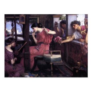 John William Waterhouse- Penelope and the Suitors Postcard