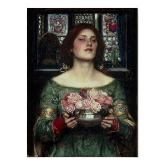 John William Waterhouse - Rosebuds Poster