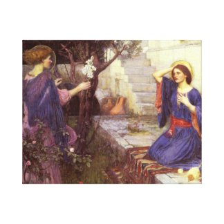 John William Waterhouse - The Annunciation Canvas Print