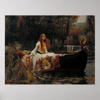John William Waterhouse - The Lady of Shalott Poster