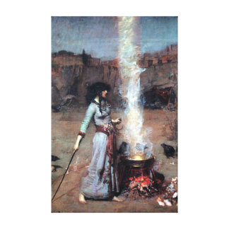 John William Waterhouse The Magic Circle Canvas Print