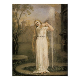 John William Waterhouse Undine Poster