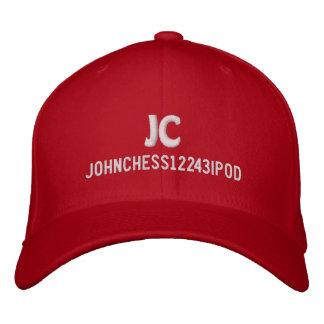 Johnchess12243ipod hat. embroidered baseball caps