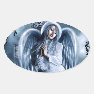 Johnnies Angel Sticker Oval Sticker