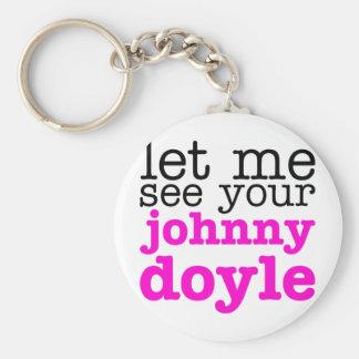 Johnny Doyle Pink Key Ring