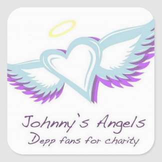 Johnny's Angels Square Stickers