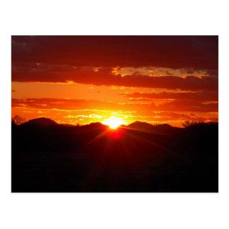 John's Sunset As I Cleaned Garage- Postcard