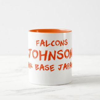 johnson air base japan falcons Two-Tone coffee mug
