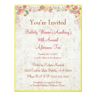 Johnson Brothers China Charity Afternoon Tea  - Personalized Announcements