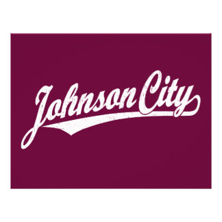 Johnson City script logo in white distressed 21.5 Cm X 28 Cm Flyer