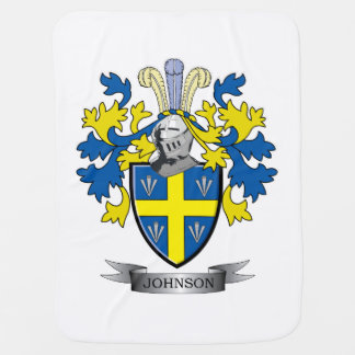 Johnson Coat of Arms Baby Blanket