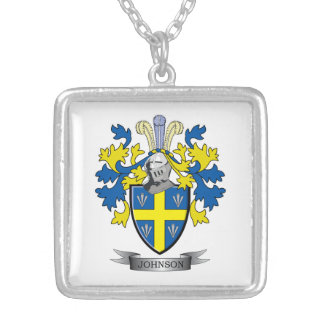 Johnson Coat of Arms Silver Plated Necklace