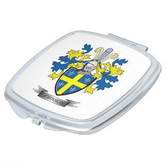 Johnson Coat of Arms Vanity Mirrors