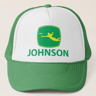 Johnson Deere w/Yellow Trucker Hat