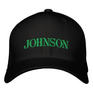 JOHNSON EMBROIDERED HAT