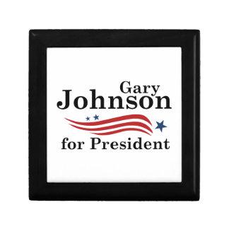 Johnson For President Small Square Gift Box