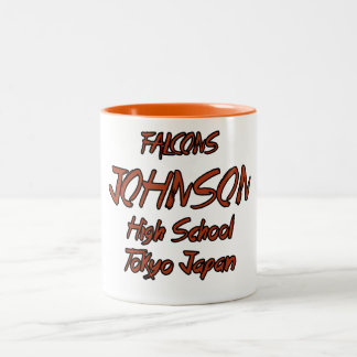 johnson high school japan Two-Tone coffee mug