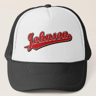 Johnson in Red Trucker Hat