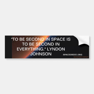 Johnson Quote Bumper Sticker