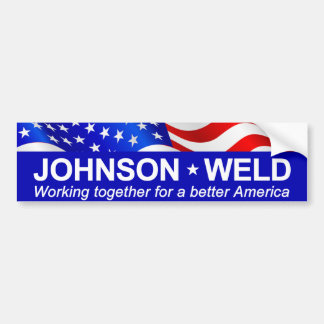 Johnson Weld Working Together Bumper Sticker