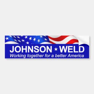 Johnson Weld Working Together Bumper Sticker