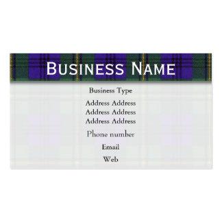Johnston clan Plaid Scottish tartan Pack Of Standard Business Cards