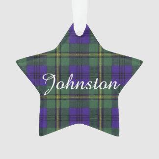 Johnston clan Plaid Scottish tartan Ornament