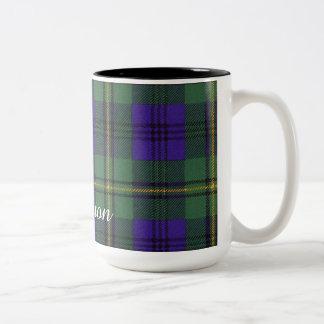 Johnston clan Plaid Scottish tartan Two-Tone Mug