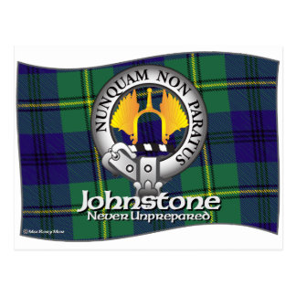 Johnston Johnstone Clan Postcard
