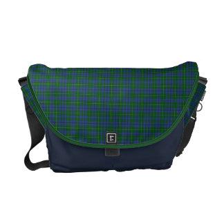 Johnston Tartan Plaid Messenger Bag