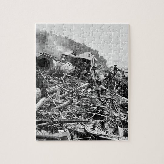Johnstown Flood Train Wreck Vintage 1889 Jigsaw Puzzle