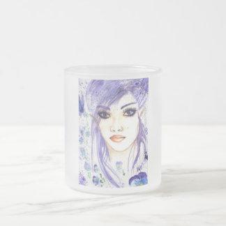 johny jump up frosted glass coffee mug