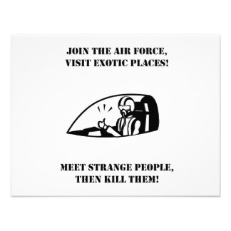 Join Air Force See Exotic People Then Kill Them Personalized Invites