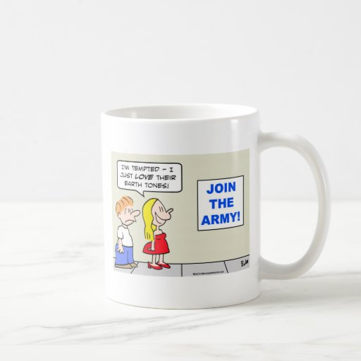 join army us love earth tones tempted mug