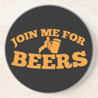 Join me for BEERS! Drink Coaster