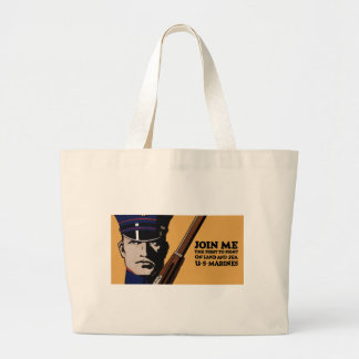 Join Me ~ US Marines Jumbo Tote Bag