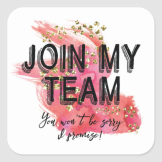 Join My Team Stickers - Marketing Stickers