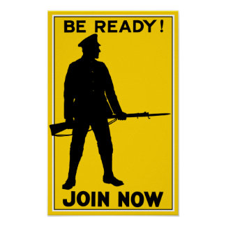 Join Now - WW1 Recruiting Poster